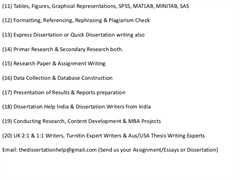 Proposal and dissertation help doctoral